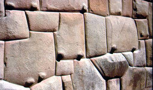 Marvelous 5.1 Wall In In Hatunrumiyoc Street, Cuzco. Polygonal Stones Usually Have  Pillowed (convex) Faces And Bevelled, Sunken Joints.